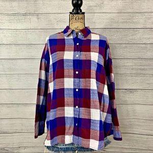 Old Navy | Women's Long Sleeve Flannel Shirt SZ XL